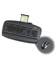 "Safco 21"" Track Adjustable Keyboard Platform with Swivel Mouse Tray, Black"