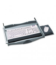 "Safco Premium 18"" Track Keyboard Drawer, Charcoal"