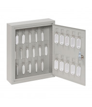 Buddy Products 28 Key Hook Key Cabinet, Platinum 0128-32