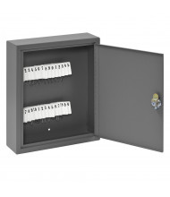 Buddy Products 30 Key Tag Slot Key Cabinet (Shown in Grey)