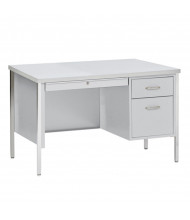"Sandusky 500 Series 45"" W Single Pedestal Teacher Desk (Shown in Grey)"