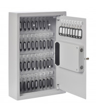 Buddy Products 48 Key Hook Electronic Lock Key Cabinet, Platinum