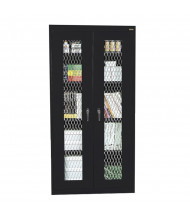 "Sandusky 36"" W x 24"" D x 72"" H Expanded Metal Front Storage Cabinet, Assembled (Shown in Black)"