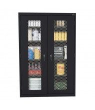 "Sandusky 46"" W x 24"" D x 72"" H Expanded Metal Front Storage Cabinet, Assembled (Shown in Black)"