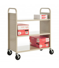 "Sandusky 39"" W 3 Flat Shelf School Book Truck (Shown In Putty)"