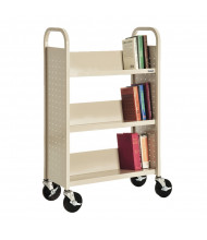 "Sandusky 32"" W 3 Sloped-Shelf School Book Truck (Shown In Putty)"