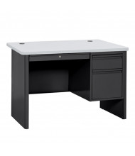 "Sandusky 700 Series 48"" W Single Pedestal Teacher Desk (Shown in Grey / Black)"