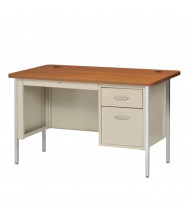 "Sandusky 600 Series 48"" W Single Pedestal Teacher Desk (Shown in Oak / Putty)"