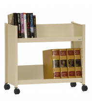 "Sandusky 29"" W 2 Sloped-Shelf Booktruck (Shown In Putty)"
