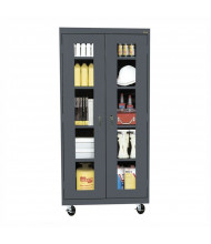 "Sandusky 78"" H Transport Clear View Mobile Storage Cabinets, Assembled (Shown in Charcoal)"