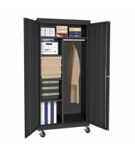 "Sandusky 36"" W x 24"" D x 66"" H Transport Mobile Combination Storage Cabinet, Assembled (Shown in Black)"