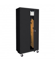 "Sandusky 36"" W x 24"" D x 78"" H Transport Mobile Wardrobe Storage Cabinet, Assembled (Shown in Black)"