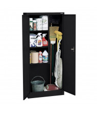 "Sandusky 30"" W x 15"" D x 66"" H Janitorial Combination Storage Cabinet, Assembled (Shown in Black)"
