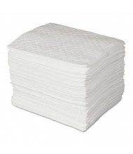 "SPC MAXX 0.3 Gal Enhanced Oil-Only Sorbent Pad, 15"" W x 19"" L, White, 100/Pack"