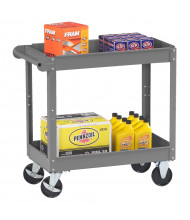 "Tennsco 240 lb Load 16"" x 30"" Steel Service Cart (Shown with accessories, not included)"