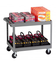 "Tennsco 240 lb Load 24"" x 36"" Steel Service Cart (Shown with accessories, not included)"