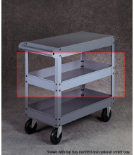 "Tennsco ST-24 Optional Center Tray for 24"" Wide Cart"