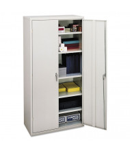 "HON Brigade SC1872Q 36"" W x 18"" D x 72"" H Storage Cabinet in Light Grey, Assembled"