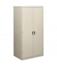 "HON Brigade SC2472Q 36"" W x 24"" D x 72"" H Storage Cabinet in Light Grey, Assembled"