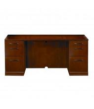 "Mayline Sorrento SCBB72 72"" W Straight Front Double Pedestal Credenza Office Desk (Shown in Bourbon Cherry)"
