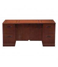 "Mayline Sorrento SCFF72 72"" W Straight Front Double Pedestal Credenza Office Desk (Shown in Bourbon Cherry)"
