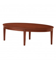 "Mayline Sorrento SCFT 48"" W Oval Coffee Table (Bourbon Cherry)"