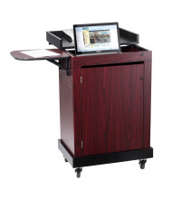 Oklahoma Sound Smart Cart 16 Tablet & Chromebook Capacity Charging Cart Lectern (Shown in Mahogany)