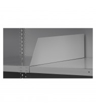 Tennsco Adjustable Shelf Dividers for Q-Line Shelving Units (Shown in Light Grey)