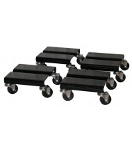 "Vestil SDOL-4 500 lb. Steel 8"" x 8"" Dolly (Set of 4)"