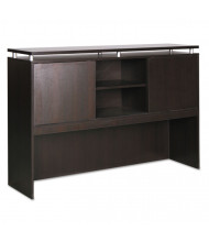 "Alera SedinaAG 72"" 2-Sliding Door Hutch, Espresso"