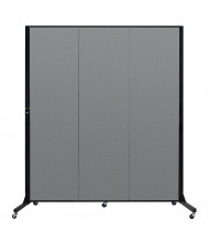 "Screenflex Freestanding 69"" W x 77"" H Light Duty Mobile Fabric Room Divider (Shown in Grey)"