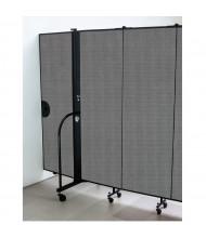 """Screenflex 72"""" H Door Panel for Room Dividers (Shown in Grey)"""