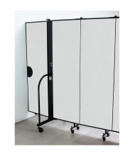 "Screenflex 48"" H Door Panel for Room Dividers (Shown in White)"