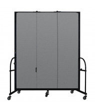 "Screenflex Freestanding 88"" H Heavy Duty Mobile Configurable Fabric Room Dividers"