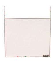 "Screenflex 42"" W x 36"" H Hanging Melamine Whiteboard for Room Dividers"
