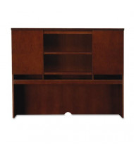 "Mayline Sorrento SHA72SCR 72"" W Double-Height Door Hutch, Bourbon Cherry"