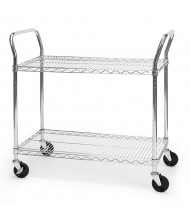 OFM 2-Shelf 300 lb Load Media Wire Utility Carts