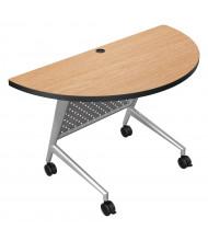 """Balt Trend 48"""" W x 24"""" D Half-Round Folding Training Table 90281 (Shown in Castle Oak)"""