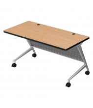 """Balt Trend 72"""" W x 24"""" D Flipper Training Table 90280 (Shown in Castle Oak)"""