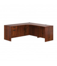 Offices to Go SL-M L-Shaped Corner Office Desk with Pedestal, Left Return (Shown in Dark Cherry)