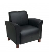 Office Star Breeze Eco-Leather Wood Club Chair