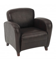 Office Star Embrace Eco-Leather Wood Club Chair
