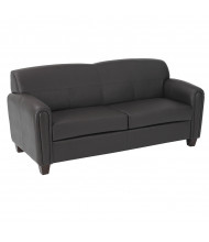 Office Star Faux Leather Wood Sofa