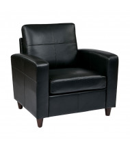 Office Star SL2811 Eco-Leather Club Chair (Shown in Black)