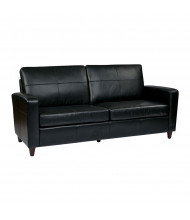 Office Star SL2813 Leather Wood Sofa (Shown in Black)