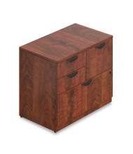 "Offices to Go SL3622MSF 36"" W 4-Drawer Mixed Storage Lateral File (Shown in Dark Cherry)"
