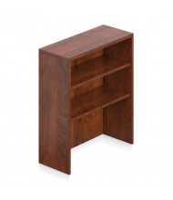 """Offices to Go 36"""" H 2-Shelf Tabletop Bookcase (Shown in Dark Cherry)"""