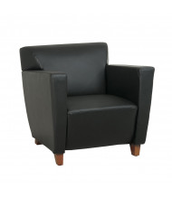 Office Star Leather Wood Club Chair