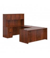 Offices to Go SL-B U-Shaped Office Desk Set (Shown in Dark Cherry)