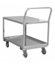 Durham Steel 1200 lb Load Stainless Steel Low Deck Stock Carts